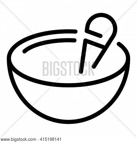 Spiritual Bowl Icon. Outline Spiritual Bowl Vector Icon For Web Design Isolated On White Background