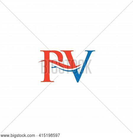 Pv Letter Linked Logo For Business And Company Identity. Initial Letter Pv Logo Vector Template.