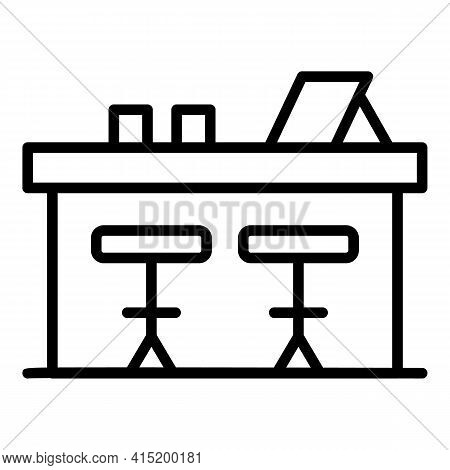 Clients Bar Counter Icon. Outline Clients Bar Counter Vector Icon For Web Design Isolated On White B