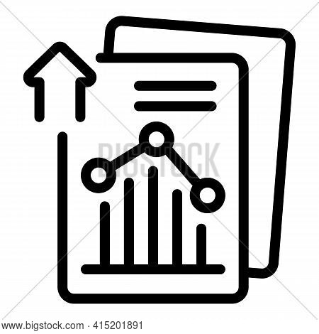 Finance Report Icon. Outline Finance Report Vector Icon For Web Design Isolated On White Background