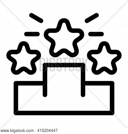 Ranking Podium Icon. Outline Ranking Podium Vector Icon For Web Design Isolated On White Background