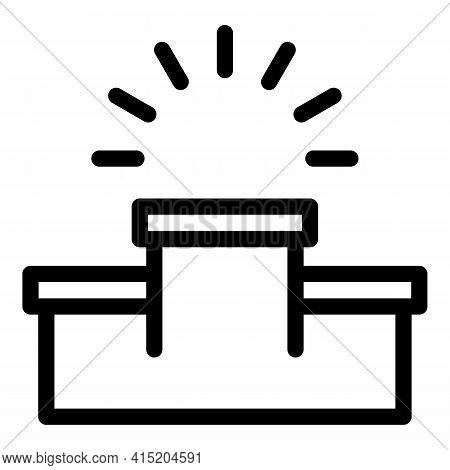 Ranking Emty Podium Icon. Outline Ranking Emty Podium Vector Icon For Web Design Isolated On White B