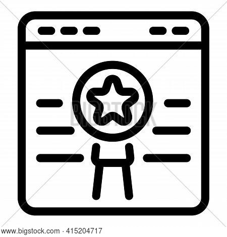 Web Page Ranking Icon. Outline Web Page Ranking Vector Icon For Web Design Isolated On White Backgro