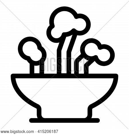 Soil Plants Icon. Outline Soil Plants Vector Icon For Web Design Isolated On White Background