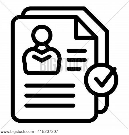 Cv Manager Icon. Outline Cv Manager Vector Icon For Web Design Isolated On White Background