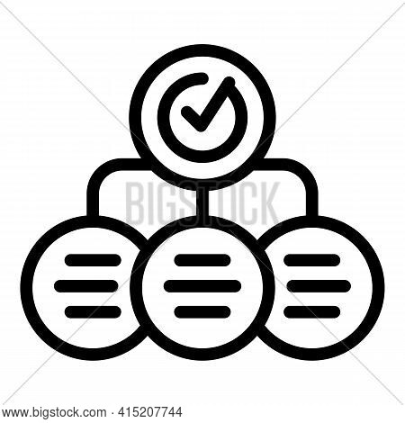 Sales Scheme Icon. Outline Sales Scheme Vector Icon For Web Design Isolated On White Background