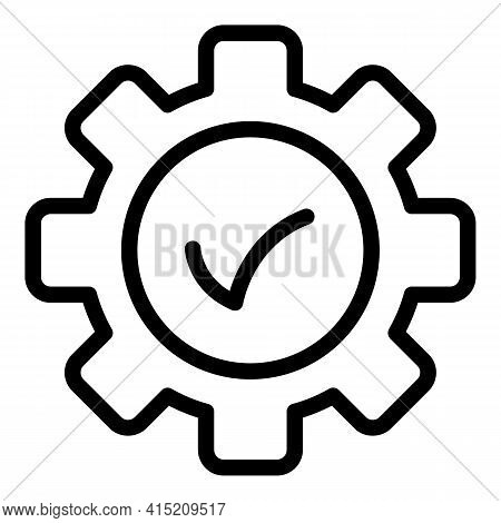 Compliance Icon. Outline Compliance Vector Icon For Web Design Isolated On White Background