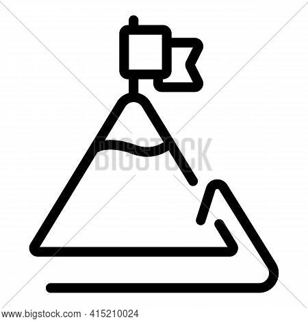 Leadership Icon. Outline Leadership Vector Icon For Web Design Isolated On White Background