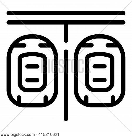 Parking Lot Icon. Outline Parking Lot Vector Icon For Web Design Isolated On White Background