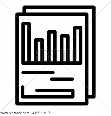 Technical Report Icon. Outline Technical Report Vector Icon For Web Design Isolated On White Backgro