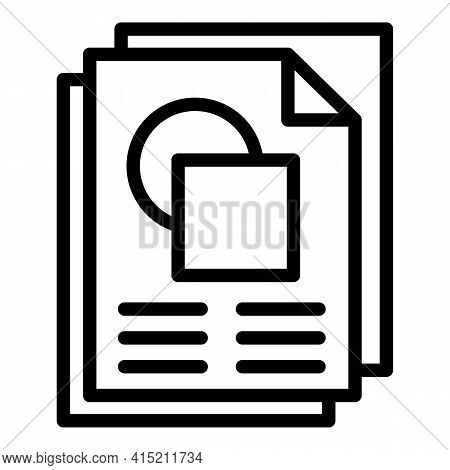 Manual Doc Information Icon. Outline Manual Doc Information Vector Icon For Web Design Isolated On W