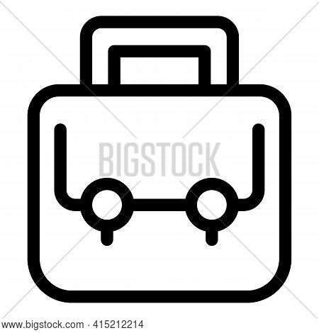 User Suitcase Icon. Outline User Suitcase Vector Icon For Web Design Isolated On White Background