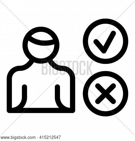 Add Remove User Icon. Outline Add Remove User Vector Icon For Web Design Isolated On White Backgroun