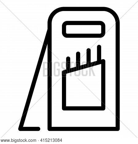 Food Slicer Cutter Icon. Outline Food Slicer Cutter Vector Icon For Web Design Isolated On White Bac
