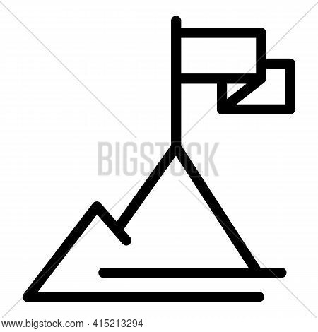 Mission Peak Icon. Outline Mission Peak Vector Icon For Web Design Isolated On White Background