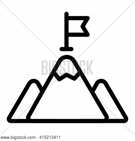 Champion Mountain Icon. Outline Champion Mountain Vector Icon For Web Design Isolated On White Backg