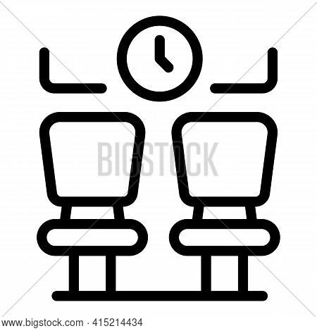 Waiting Area Icon. Outline Waiting Area Vector Icon For Web Design Isolated On White Background