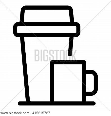 Thermos Icon. Outline Thermos Vector Icon For Web Design Isolated On White Background