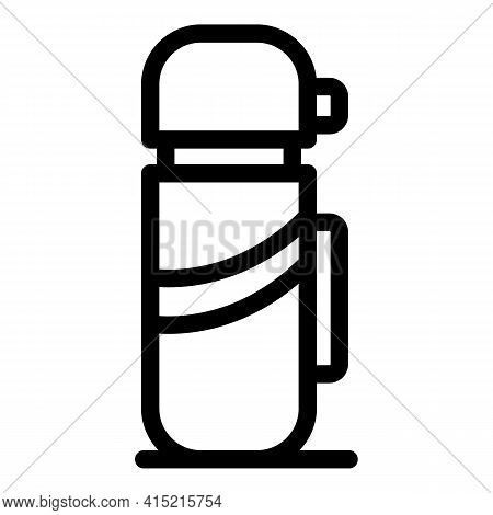 Thermos Bottle Icon. Outline Thermos Bottle Vector Icon For Web Design Isolated On White Background
