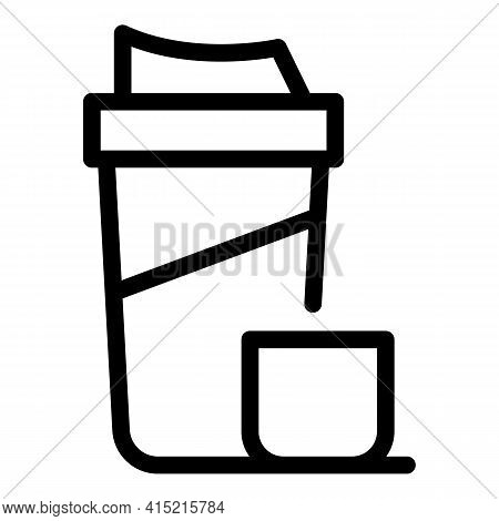Thermos Flask Icon. Outline Thermos Flask Vector Icon For Web Design Isolated On White Background