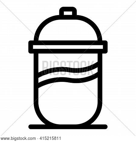 Thermo Mug Icon. Outline Thermo Mug Vector Icon For Web Design Isolated On White Background