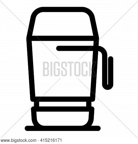 Camping Thermo Cup Icon. Outline Camping Thermo Cup Vector Icon For Web Design Isolated On White Bac