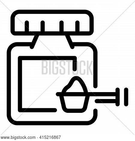 Vitamin Powder Icon. Outline Vitamin Powder Vector Icon For Web Design Isolated On White Background