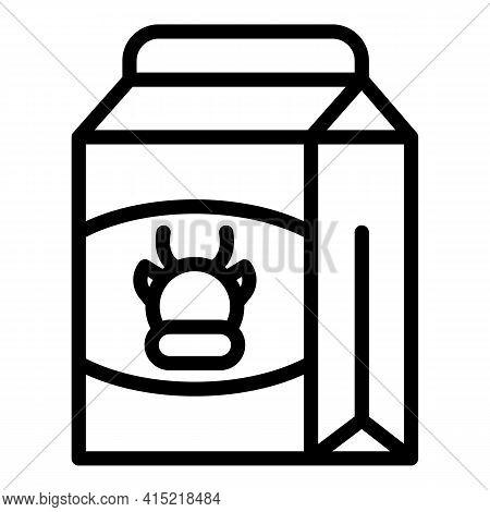 Milk Vitamin Icon. Outline Milk Vitamin Vector Icon For Web Design Isolated On White Background