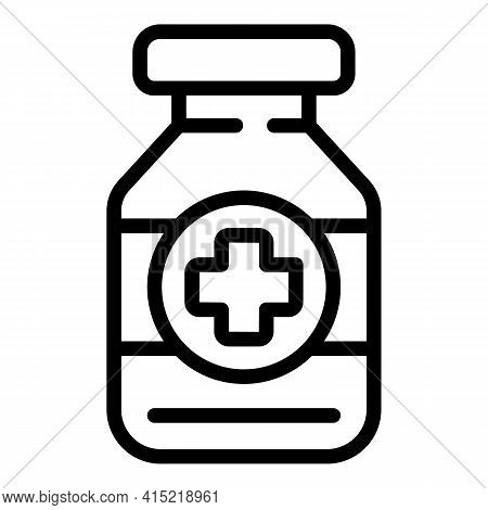 Immune Medicine Icon. Outline Immune Medicine Vector Icon For Web Design Isolated On White Backgroun
