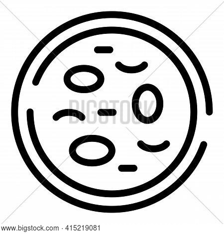 Petri Dish Icon. Outline Petri Dish Vector Icon For Web Design Isolated On White Background