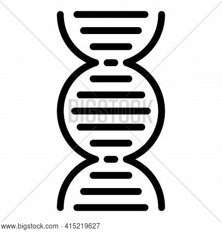 Dna System Icon. Outline Dna System Vector Icon For Web Design Isolated On White Background