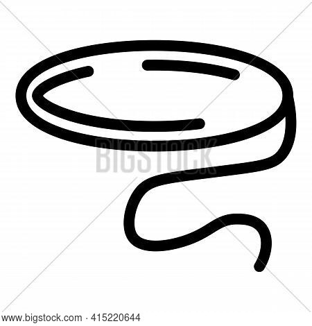 Cord Lasso Icon. Outline Cord Lasso Vector Icon For Web Design Isolated On White Background