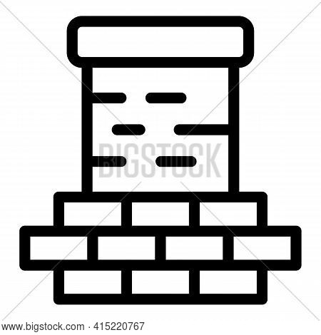 House Chimney Icon. Outline House Chimney Vector Icon For Web Design Isolated On White Background