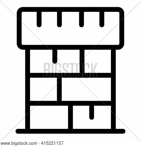 Construction Chimney Icon. Outline Construction Chimney Vector Icon For Web Design Isolated On White
