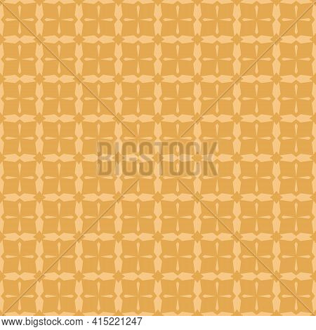 Simple Vector Geometric Seamless Pattern. Abstract Texture With Crosses, Diamonds, Grid, Lattice. Ye