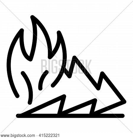 Forest Blaze Icon. Outline Forest Blaze Vector Icon For Web Design Isolated On White Background