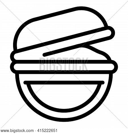 School Meal Icon. Outline School Meal Vector Icon For Web Design Isolated On White Background