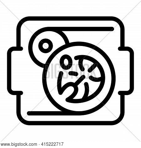 School Lunch Icon. Outline School Lunch Vector Icon For Web Design Isolated On White Background