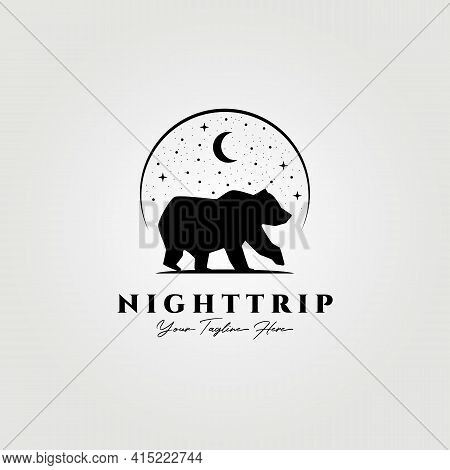 Adventure Logo, Bear Vector Illustration Design, Bear Logo, Grizzly Bear