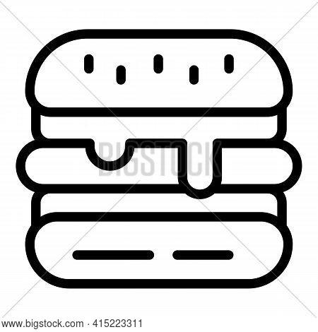 Hamburger Icon. Outline Hamburger Vector Icon For Web Design Isolated On White Background