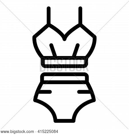 Swimming Suit Icon. Outline Swimming Suit Vector Icon For Web Design Isolated On White Background