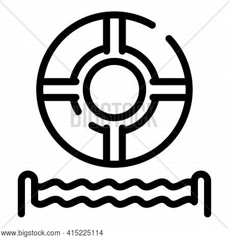 Life Buoy Icon. Outline Life Buoy Vector Icon For Web Design Isolated On White Background