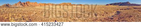 Super Panorama Of The Lithodedron Wilderness Along The Trail To Onyx Bridge In Petrified. The Square