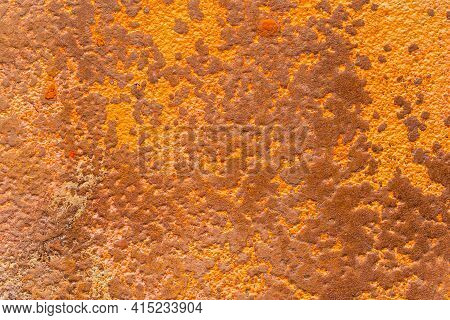 Textured Rusty Surface Close-up. Abstract Spotted Background