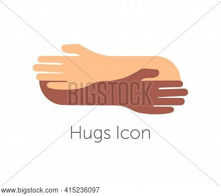 Human Hugs Hugging Hands Support And Love Symbol Hugged Arms Girth Silhouette Unity And Warmth Feeli