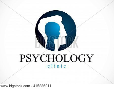 Psychology, Mental Health Vector Design, Created With Man Head Profile And Little Child Boy Inside,