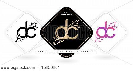 Dc Initial Letter And Graphic Name, Dc Monogram, For Wedding Couple Logo Monogram, Logo Company And
