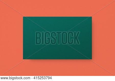 Blank customized green business card