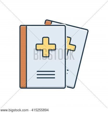Color Illustration Icon For Medical-journals Medical Journals Presentation Magazine