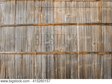 Traditional Woven Wood Bamboo Rattan Or Timber Pattern Nature Texture Strips For Furniture Material.